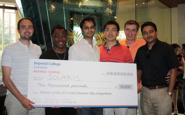 Solaris ten thousand pound big cheque