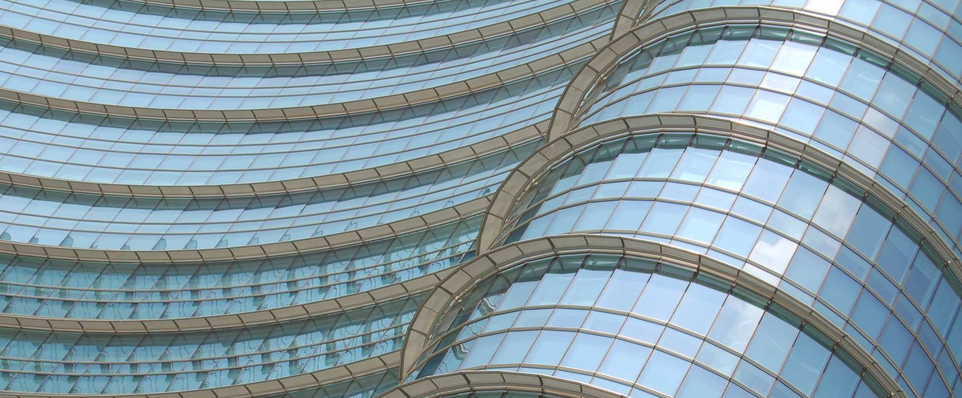 Curved building in milan