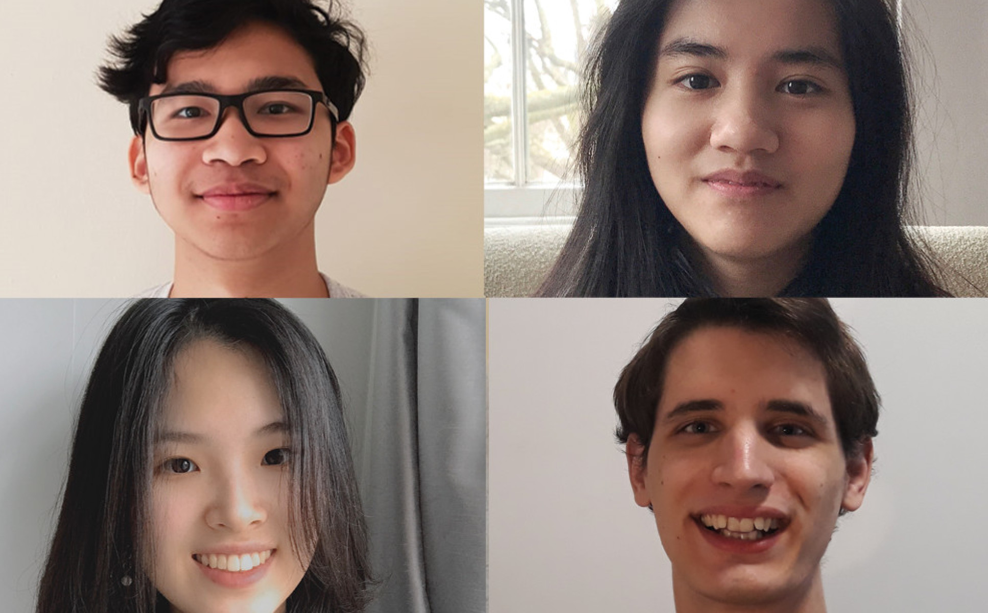 A collage of photos of the team that came second place:  Marvin Alberts, Balazs Striker, Katie Zeng, Moe Thu Kha, Yixuan Wang. All undergraduates from the Department of Chemistry