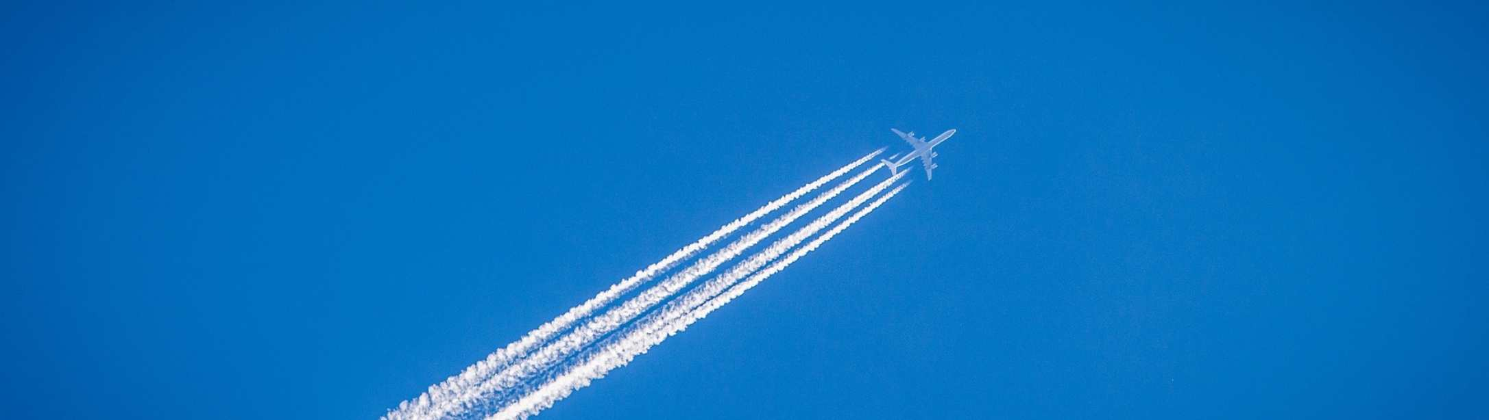 Airplane and contrail