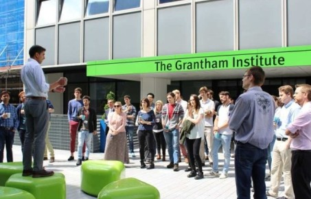 Group of people outside The Grantham Institute
