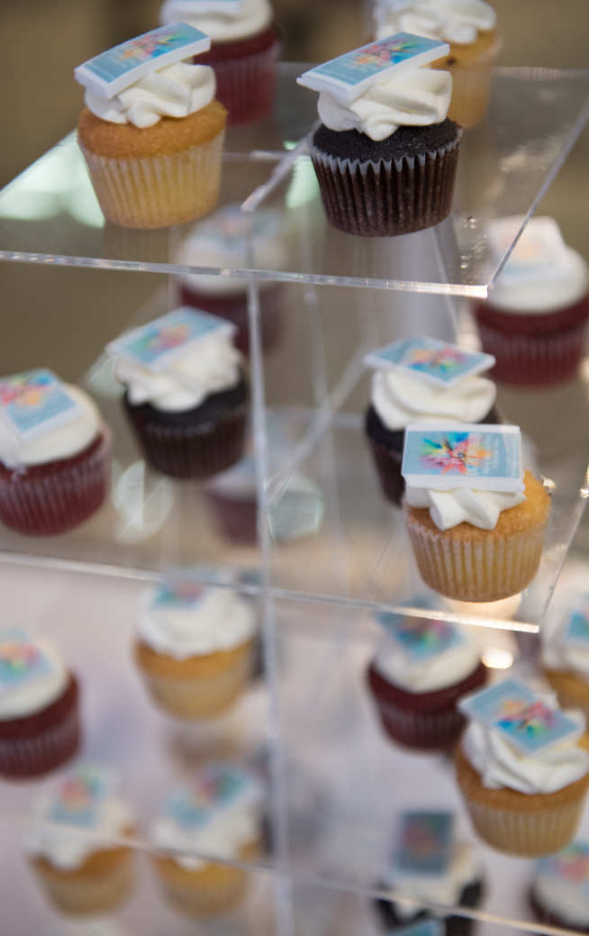 Virginia Harris, Executive Assistant to Professor David Gann, arranged for 'Playful Entrepreneur' cupcakes