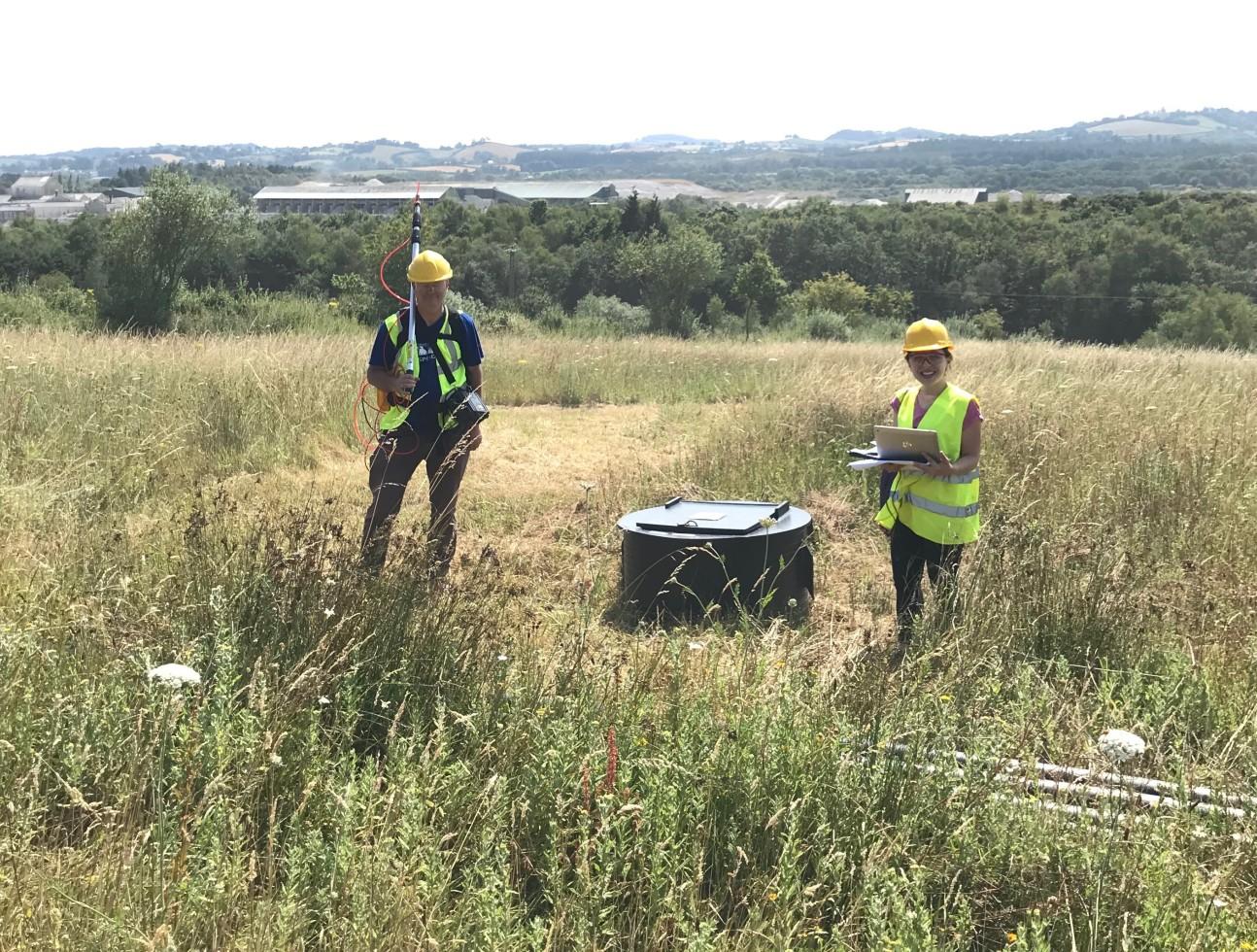 Semra carrying out fieldwork