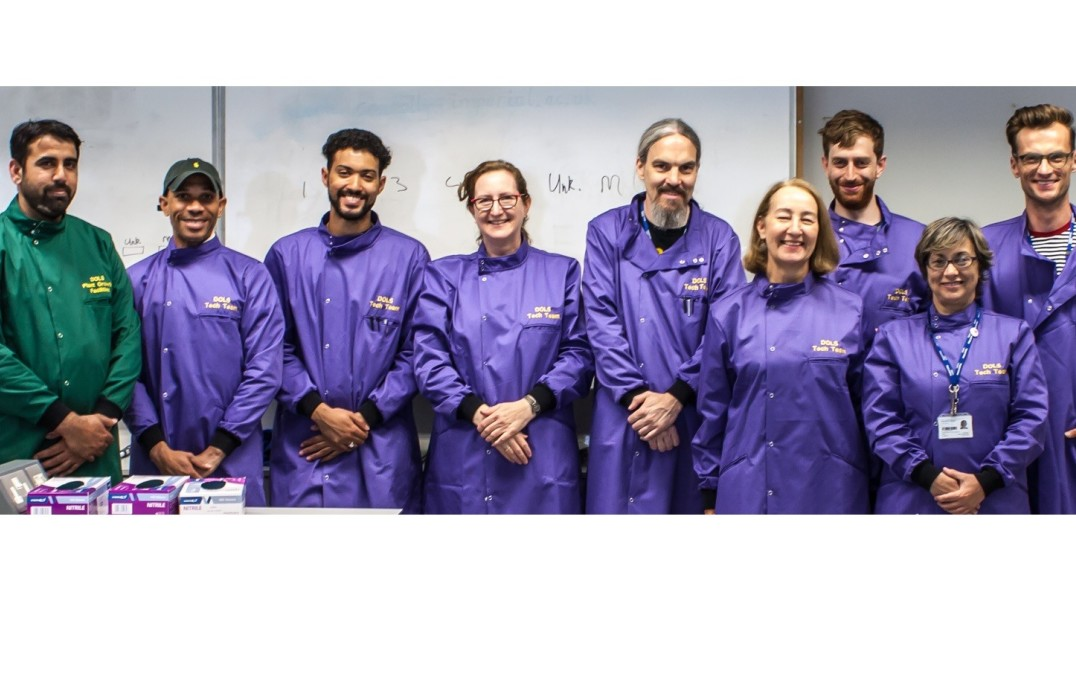 The DoLS South Ken tech team: Javaid Iqbal, Alex Sierra-Rodriguez, Aaron Williams, Allison Hunter, Steve Swan, Fiona May, Danny Peckham, Dina Fonseca, Lukasz Bukowski and James Mansfield (not shown). Ola Shobawale has now replaced Aaron Williams.