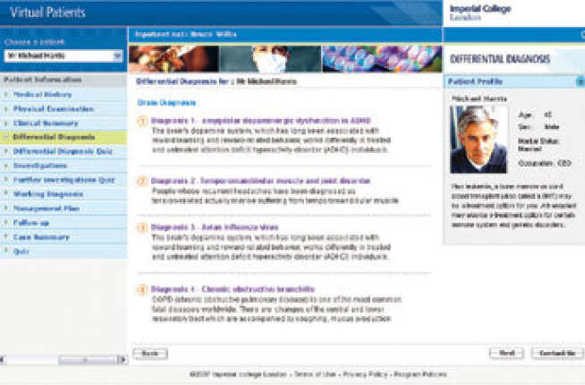 Virtual Patients Application Tool