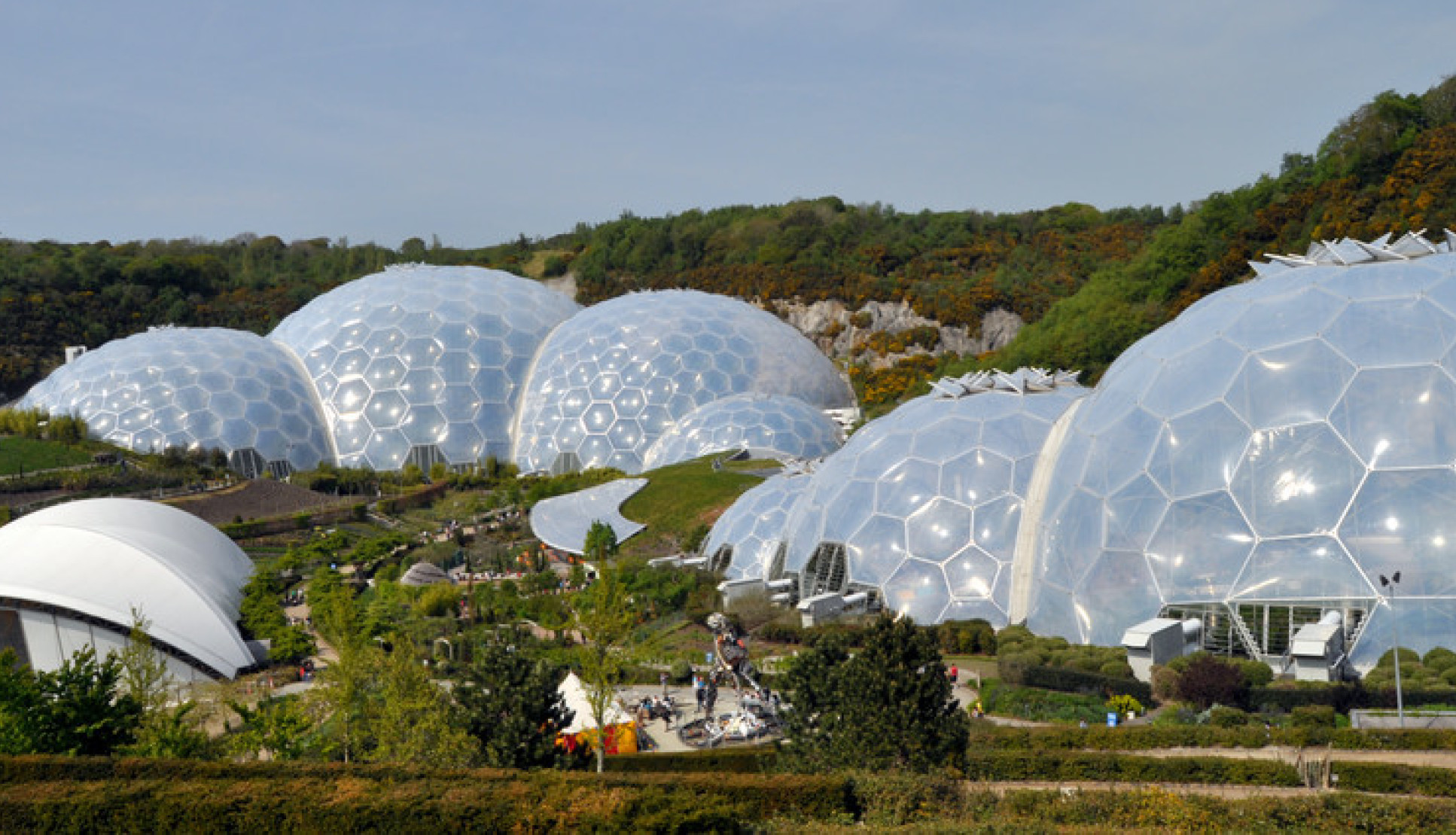 Photo of the domes of the Eden Project