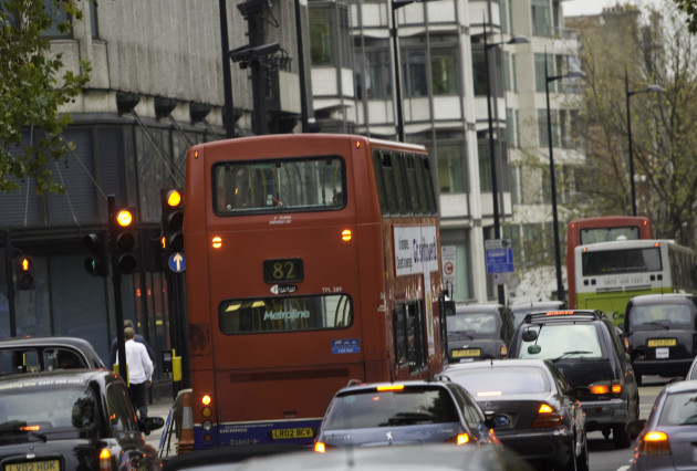 Image of busy London traffic on a main road