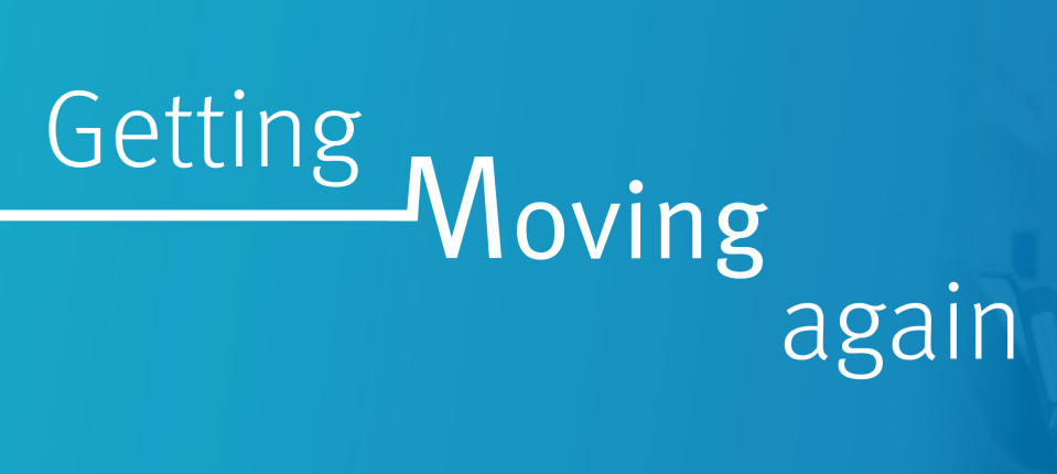 Getting moving again graphic