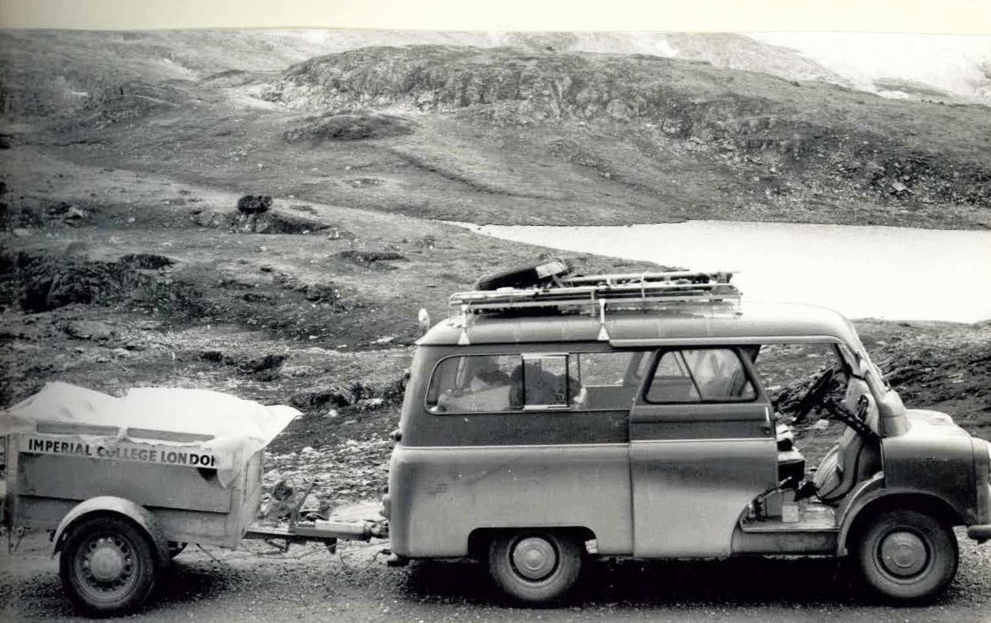 Expedition van and trailer