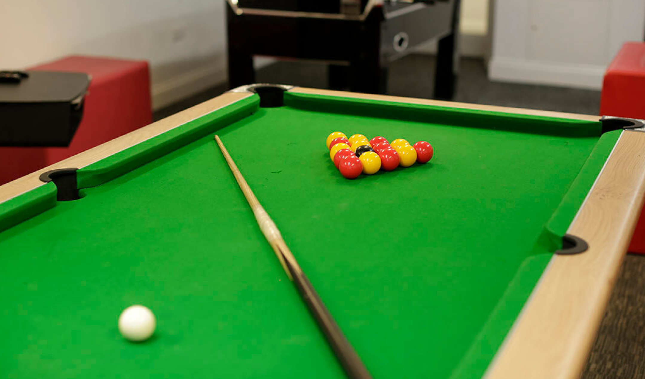 Group self-catering games room