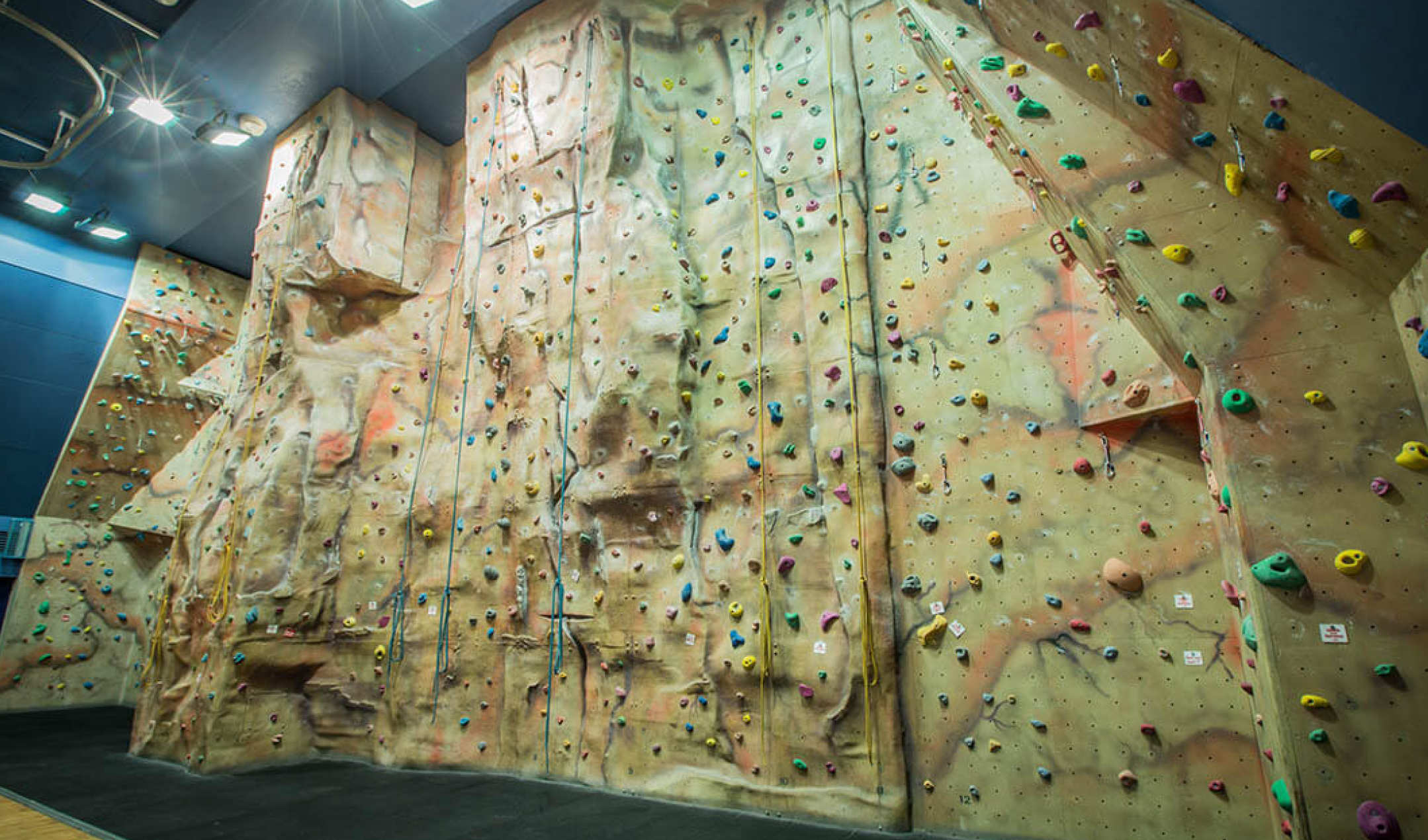 Climbing wall for use by our summer accommodation guests