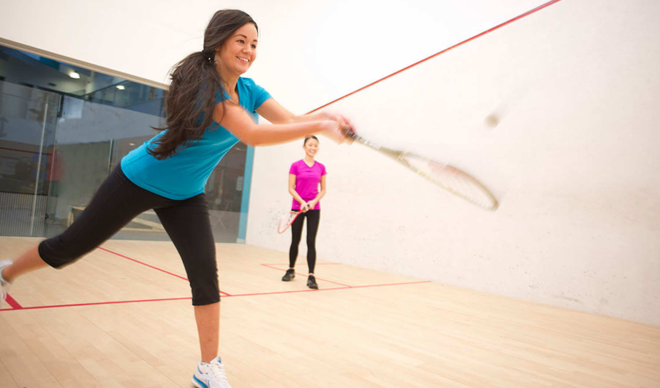 Squash courts for use by our summer accommodation guests