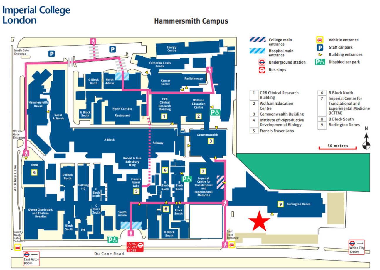 Hammersmith Campus Map