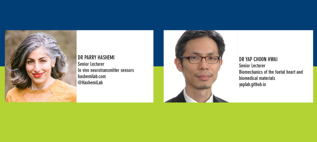 Portraits of Drs Parry Hashemi and Yap Choon Hwai