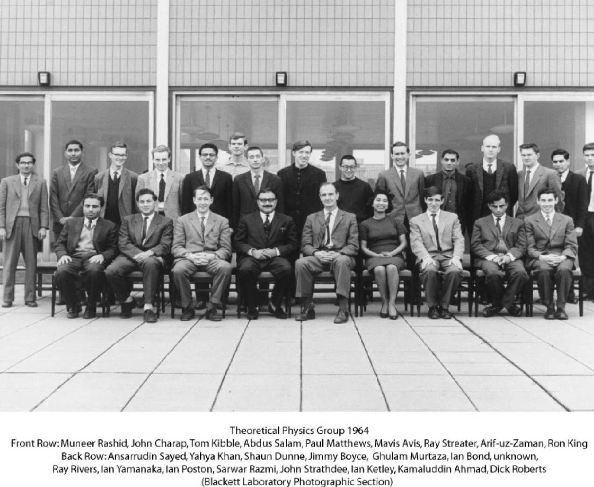 The Theoretical Physics group in 1964, with Salam at the front