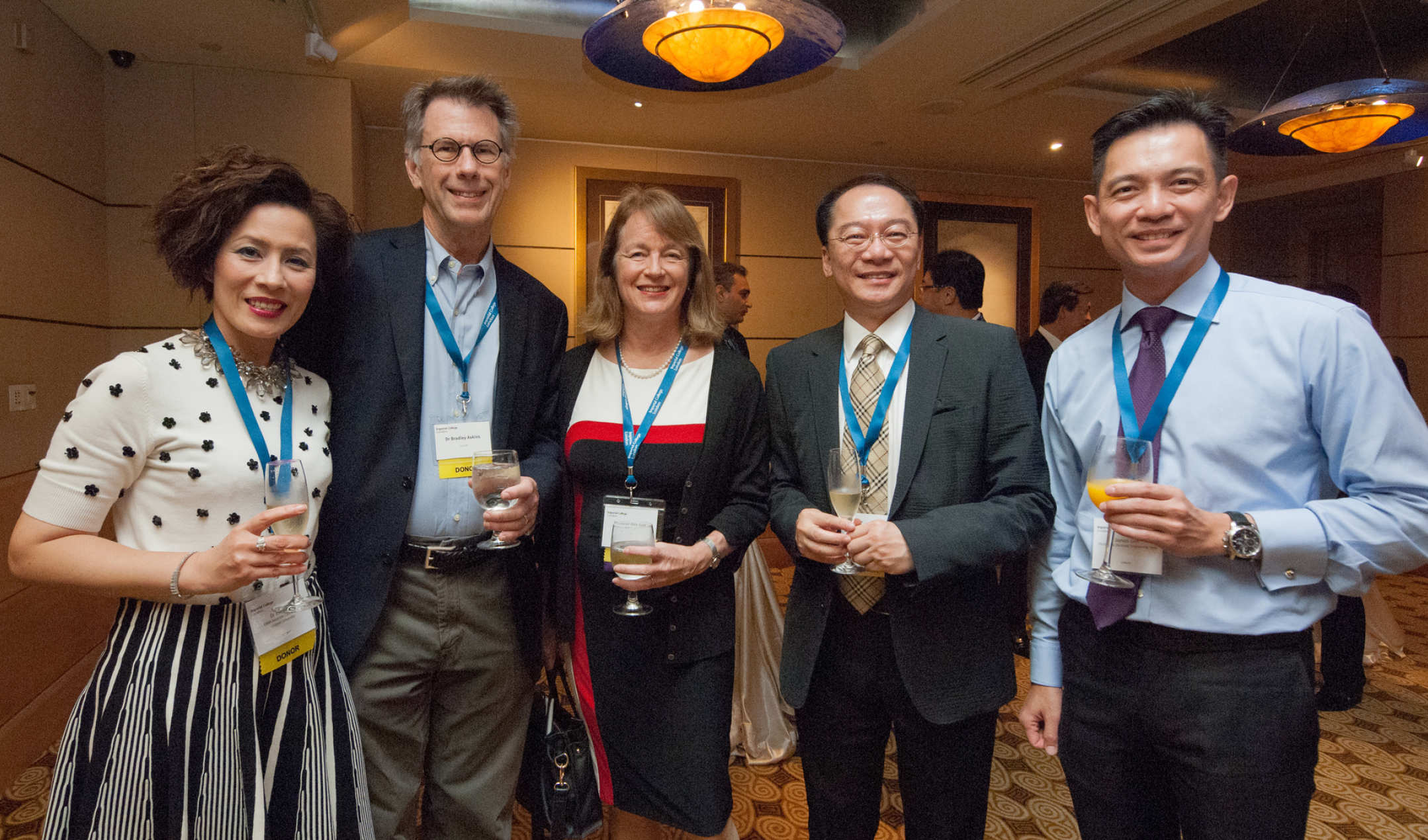 President Gast and her husband Bradley meet alumni and friends in Singapore