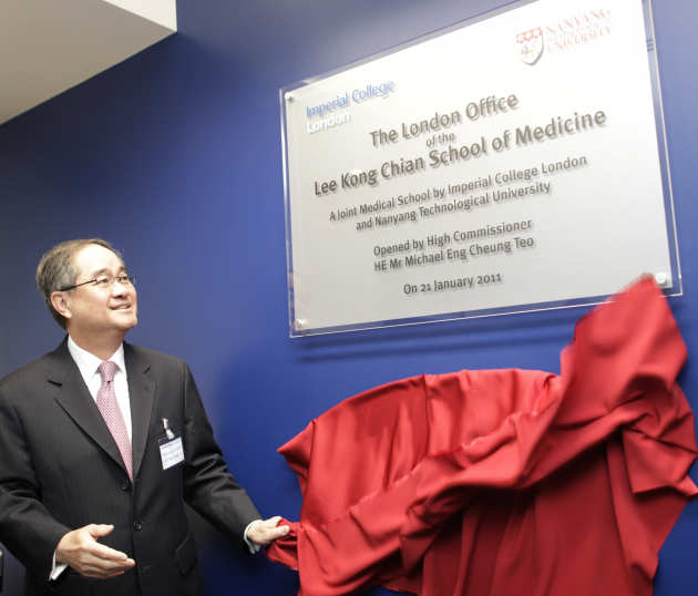 His Excellency Michael Eng Cheng Teo, Sinapore's High Commissioner at the opening of the Lee Kong Chian School of Medicine