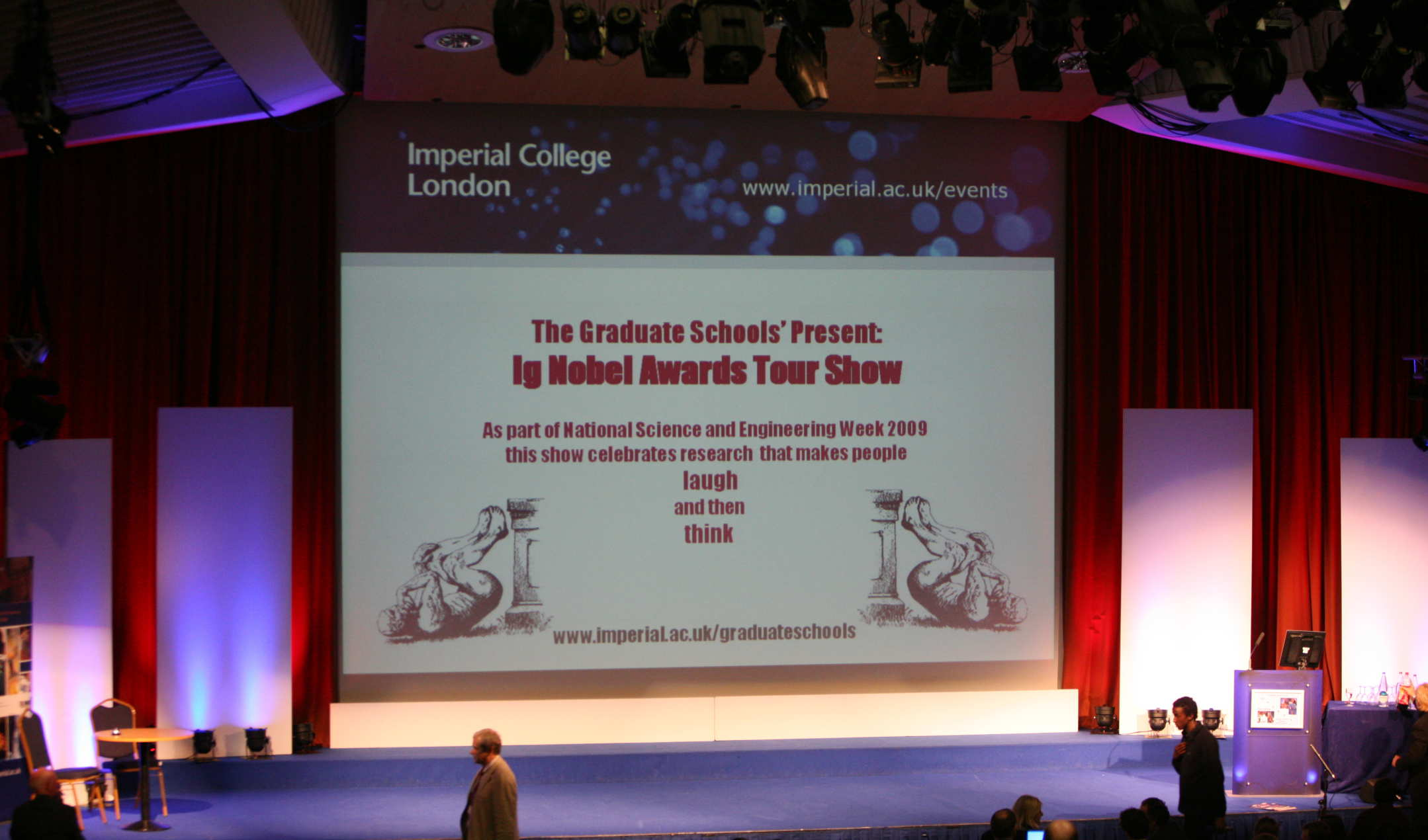 The stage at the Ig Nobel award show 2009