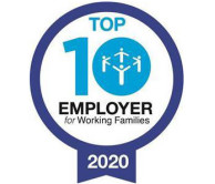Certificate for the 'Top 10 Employer for working families 2020'