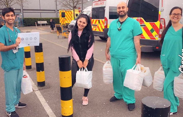 Imperial students delivering food to NHS staff