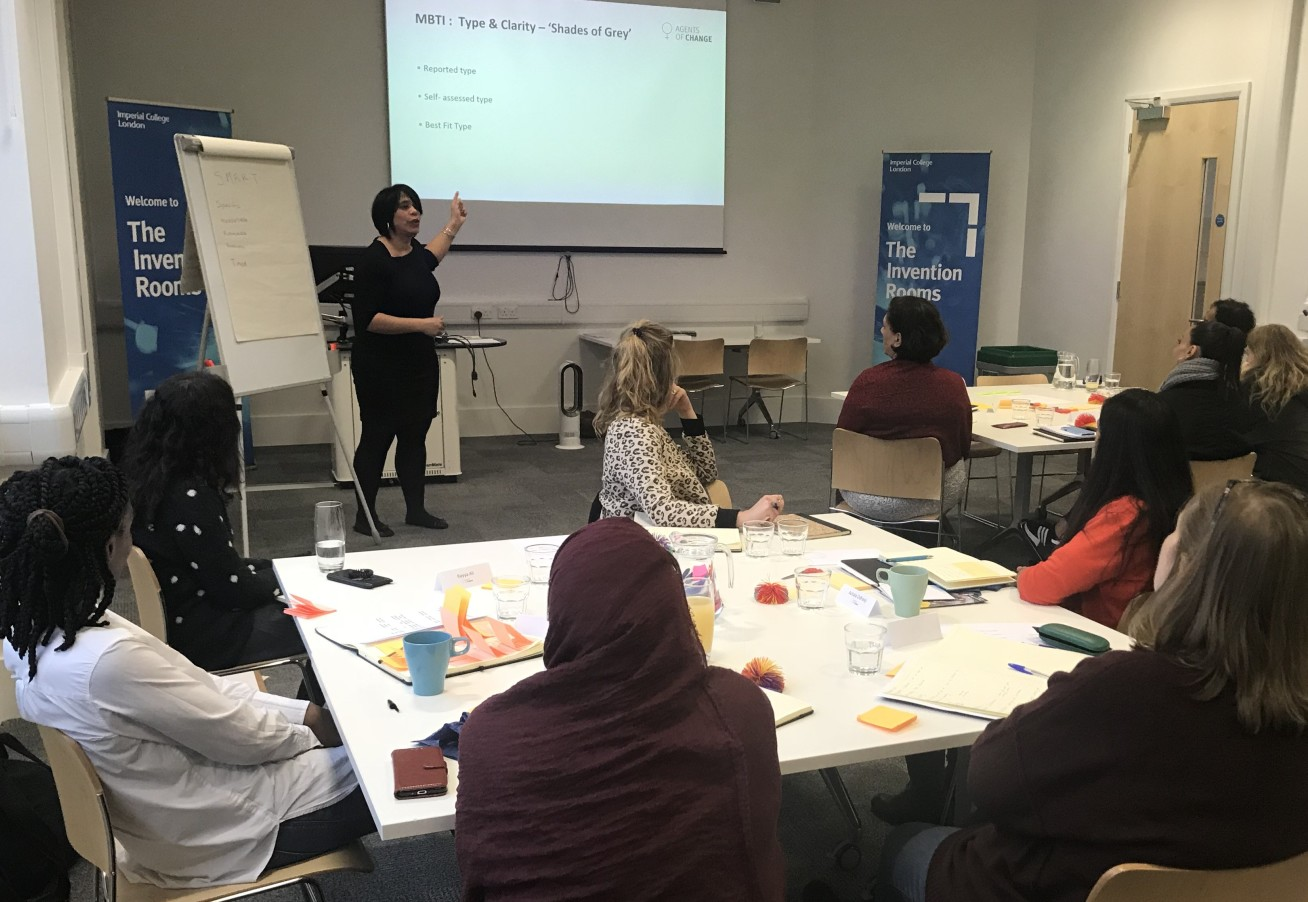 Melanie delivering a session to the 2019 cohort