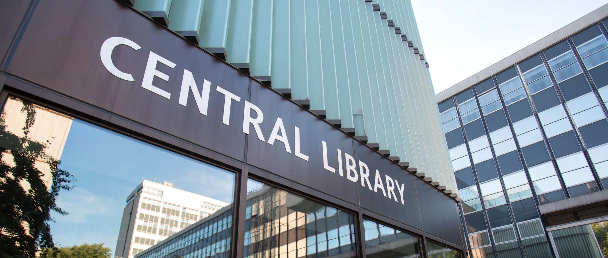 Central library entrance