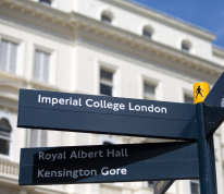 Signage on south kensington campus
