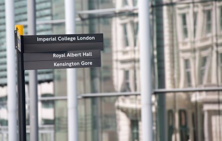Signpost to College