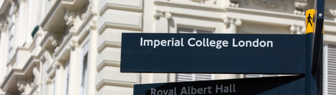 Imperial College London sign post