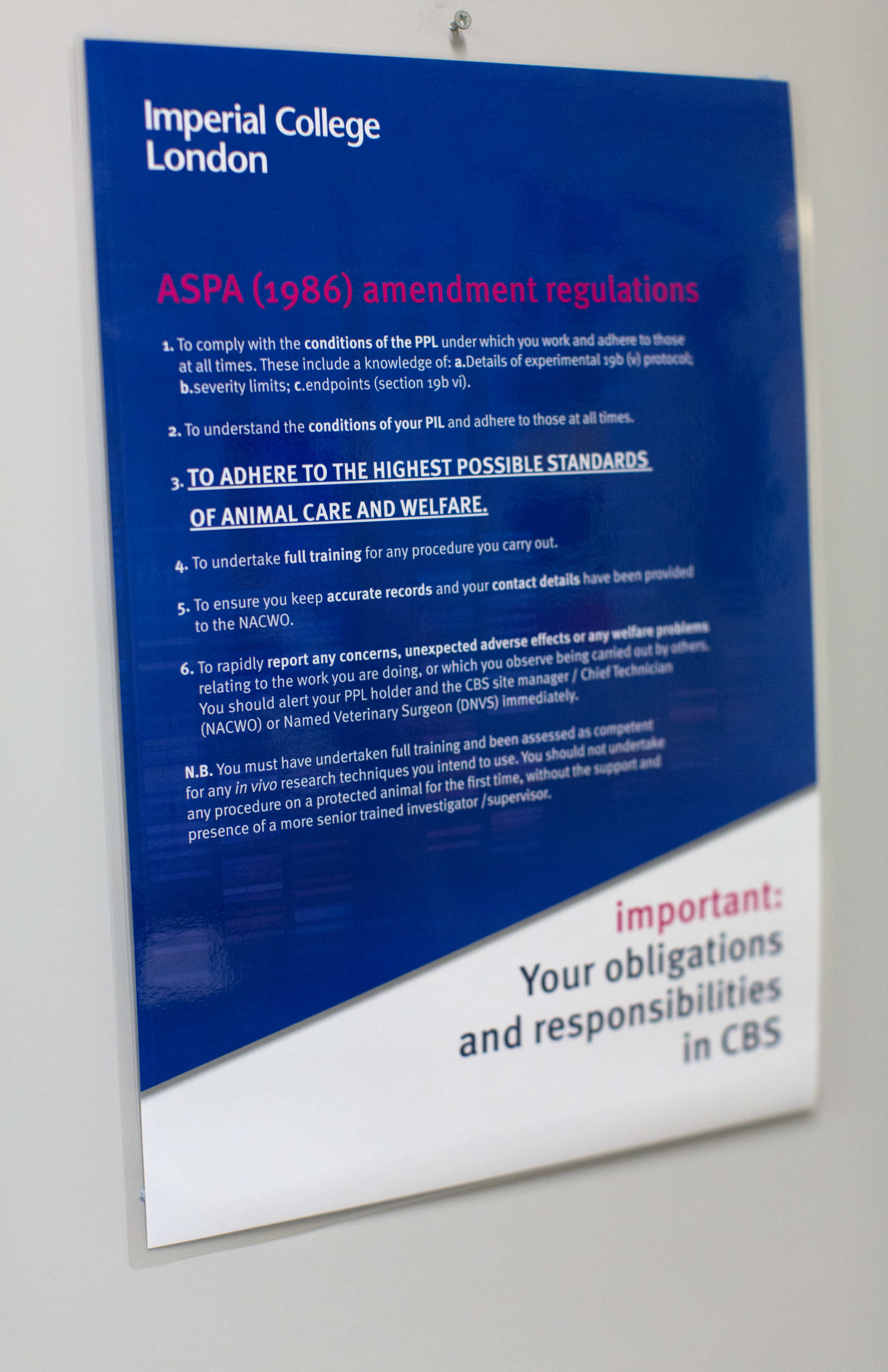 ASPA Amendment regulations