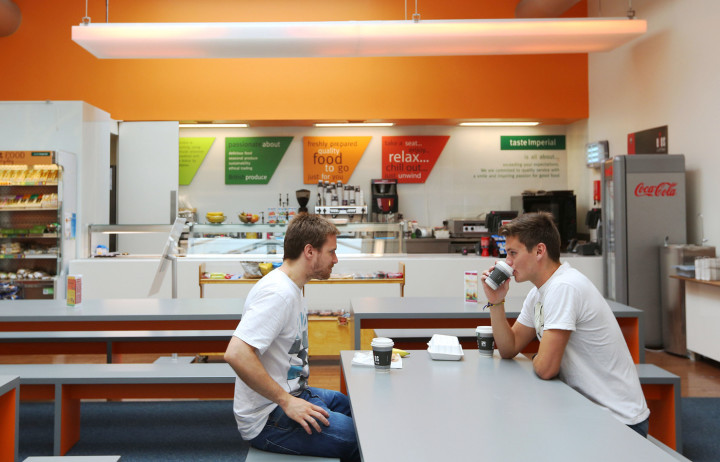 Students in Imperial's RSM café