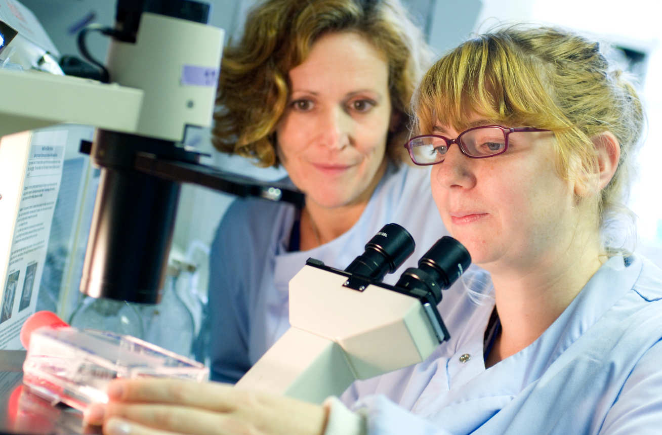 Professor Wendy Barclay with Dr Lorian Hartgroves