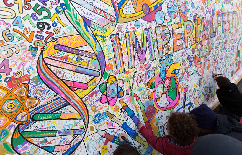 Festival be inspired imperial college london for Children s mural artist