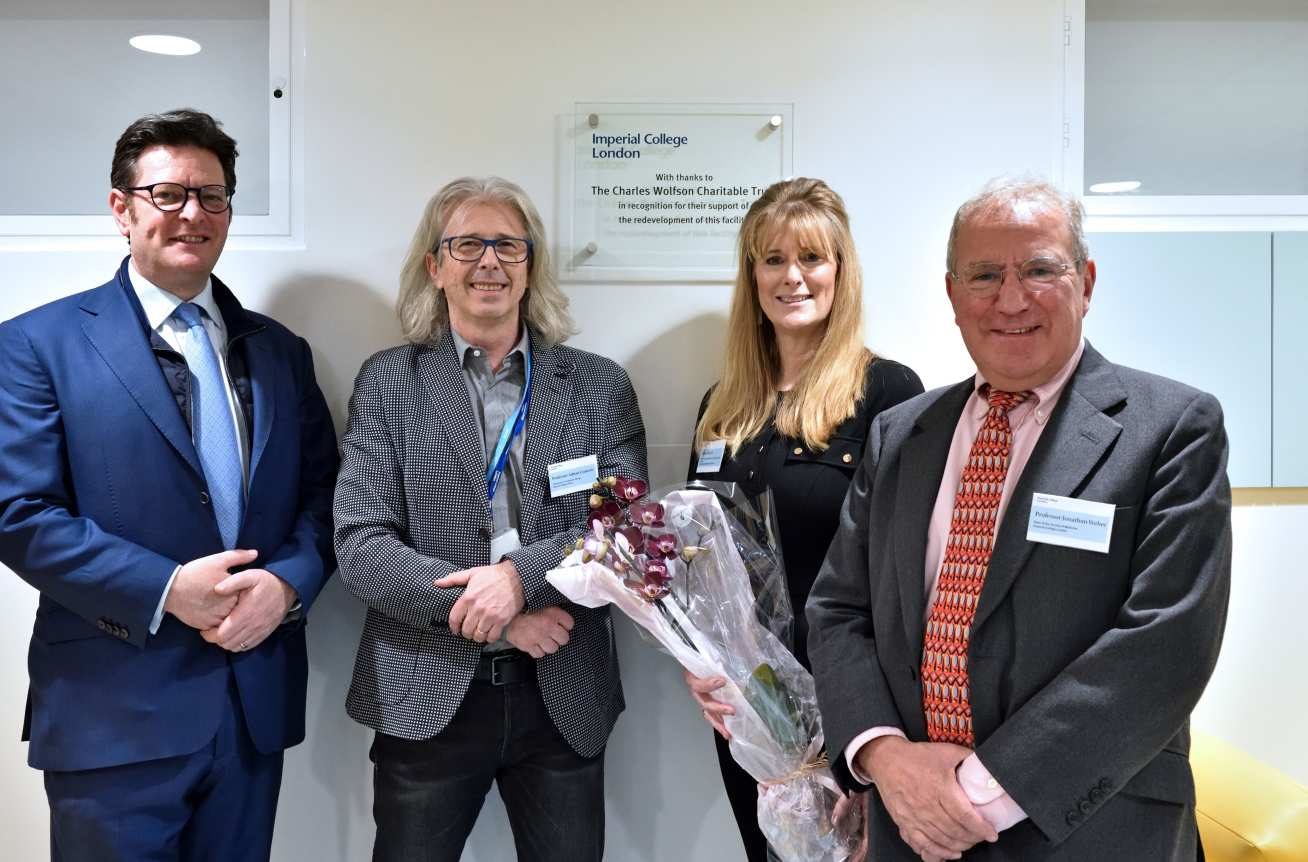 The Hon Andrew Wolfson, Professor Adnan Custovic, Debra Matich and Professor Jonathan Weber opened the Children's Clinical Research Facility at St Mary's Hospital