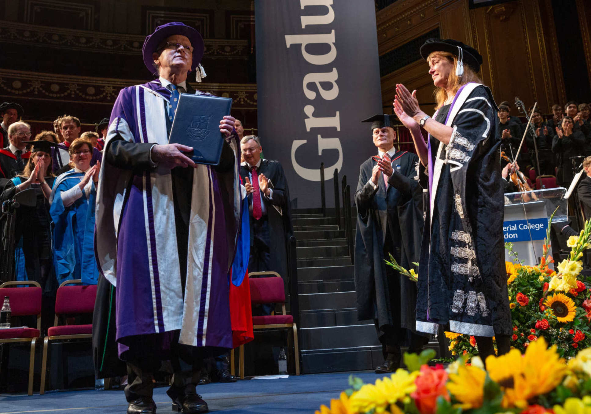 Professor Stirlings receives an honorary doctorate of science during Commemoration Day on Wednesday 17 October