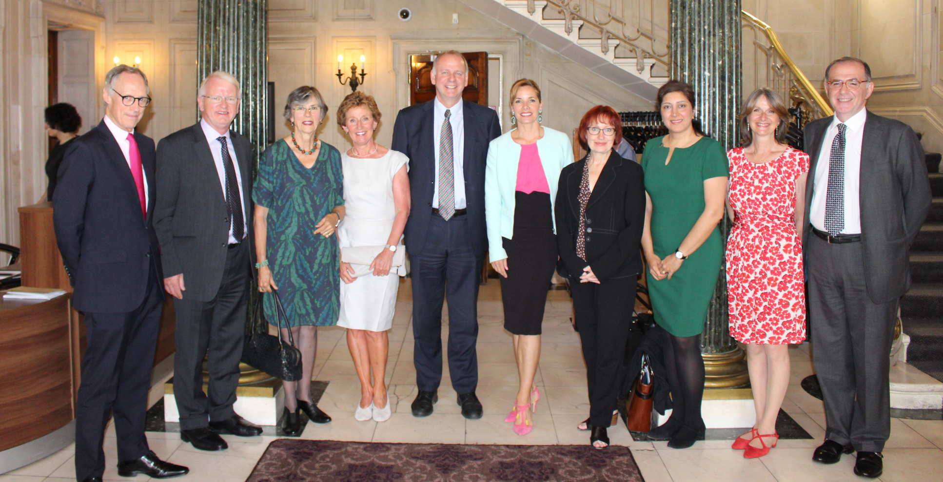 Professor Stirling with Royal Academy of Dance President Darcey Bussell (centre)