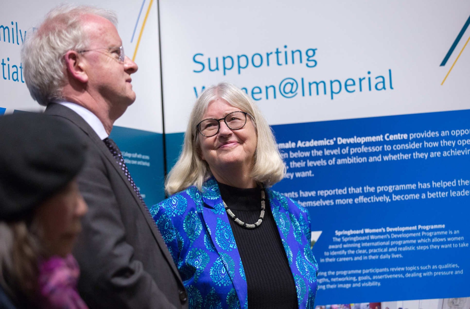 Professor Stirling with Professor Dot Griffiths, the Provost's Envoy for Gender Equality