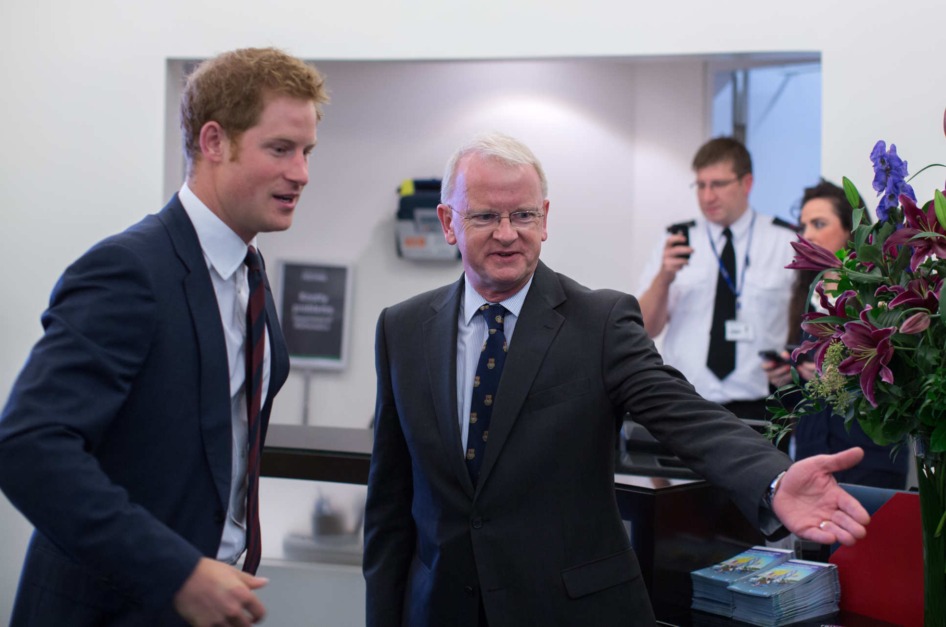 Discussing blast injury research with Prince Harry