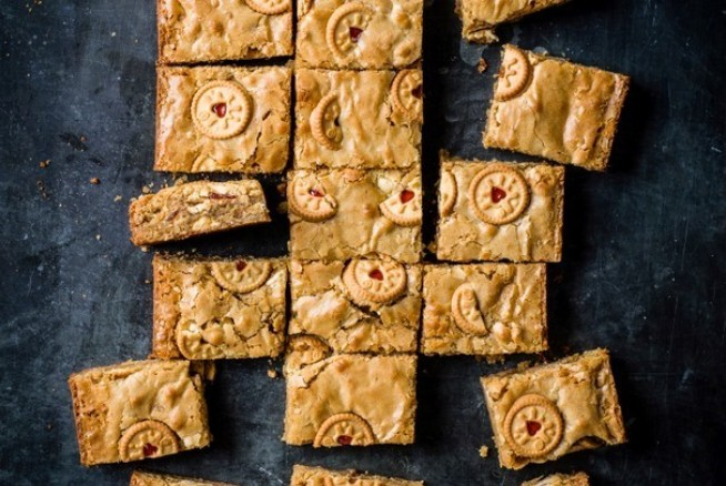 Jammie Dodgers Blondies
