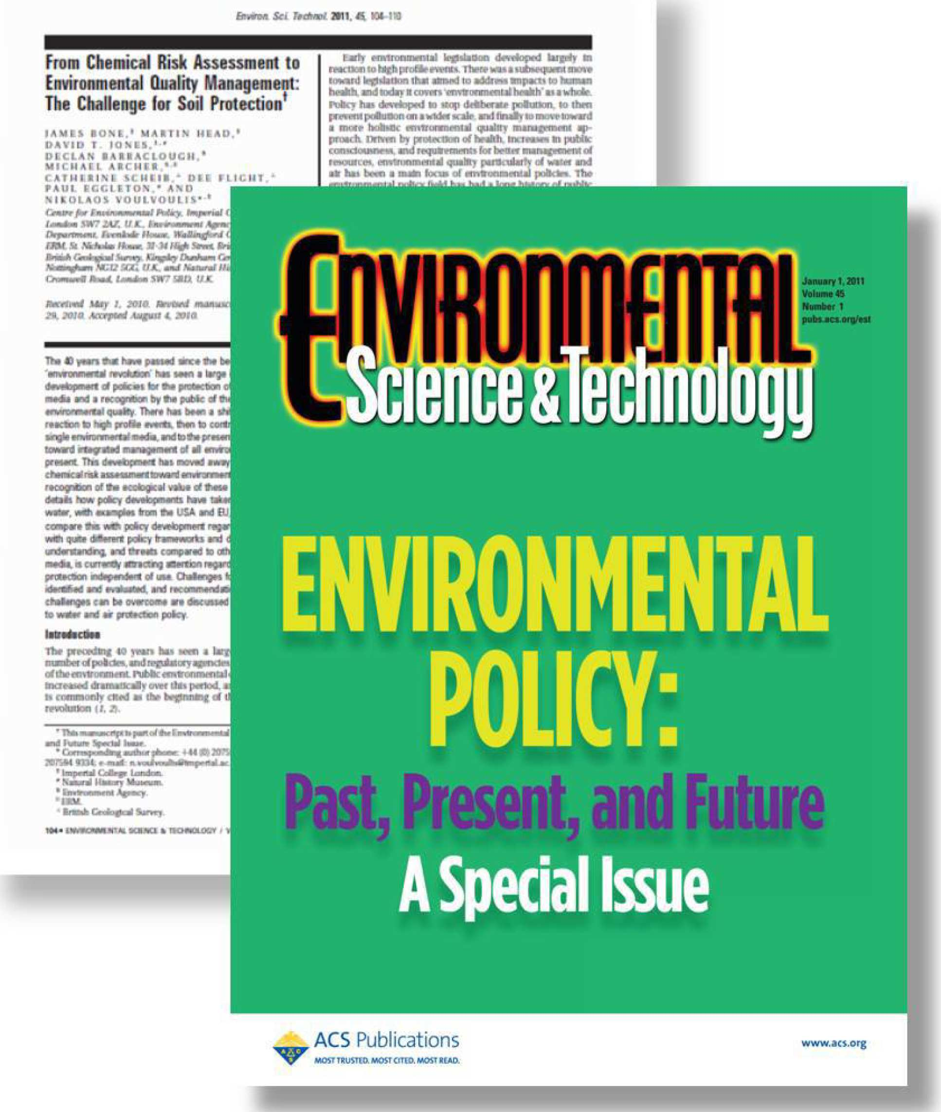 Environmental Policy: Past, Present, and Future