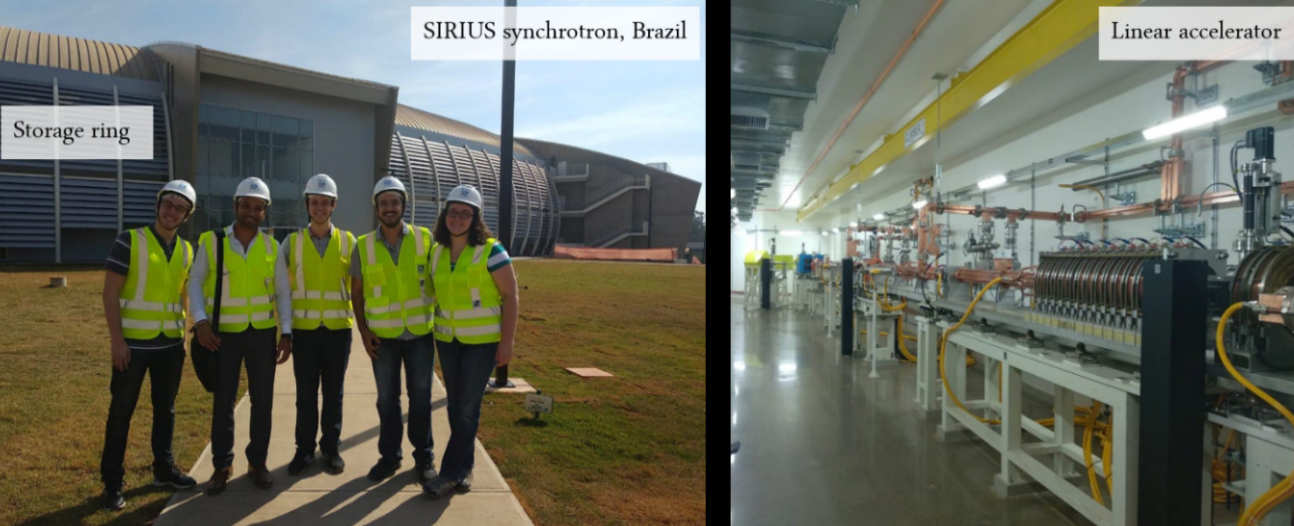 Kamal Singh at the synchrotron light source in Campinas, Brazil