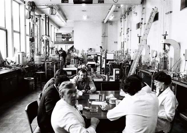 Staff in the main lab, circa 1980