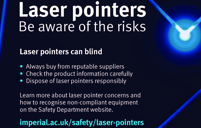 poster advising the dangers of laser pointers