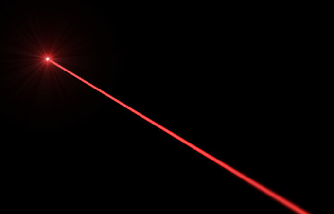 image of a red laser beam