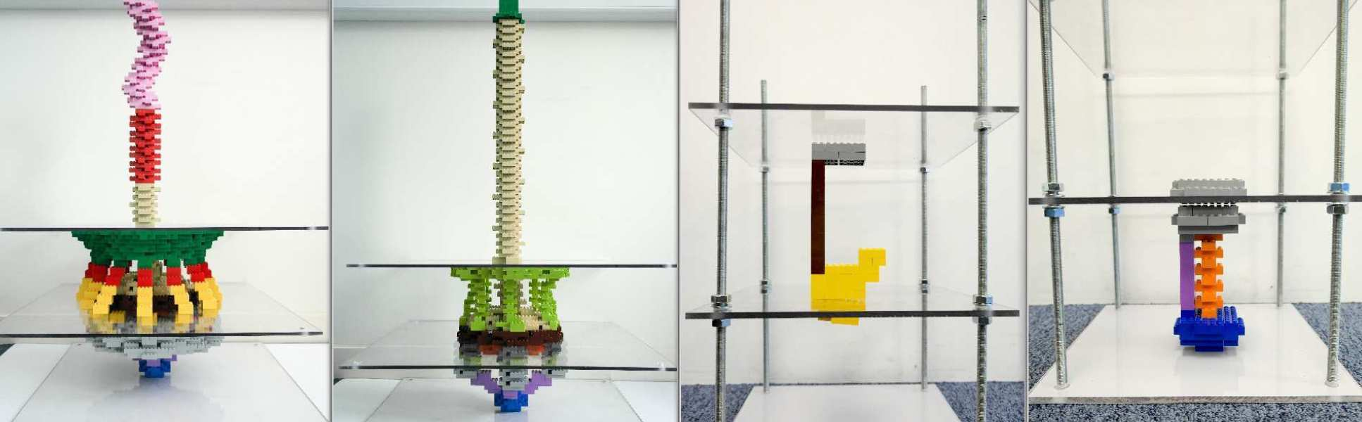 Lego sculptures on display at Imperial Festival