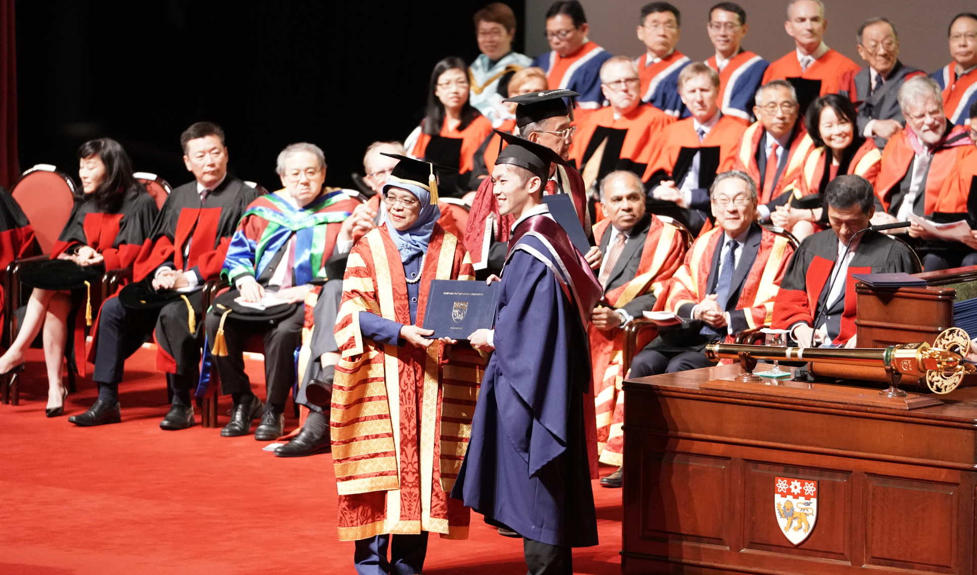 President Yacob confers a degree