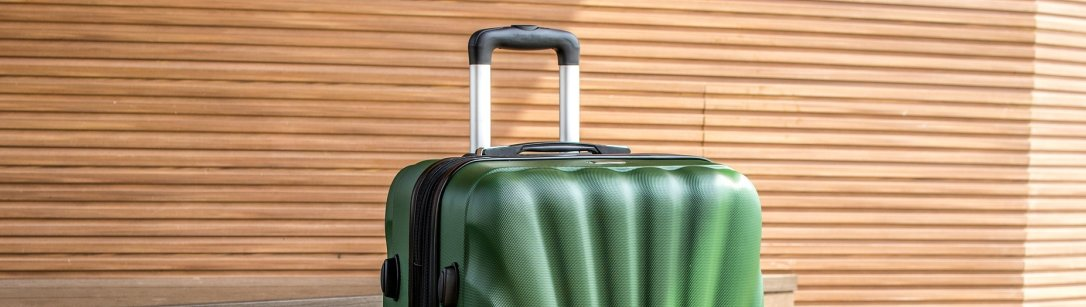 Green trolly luggage