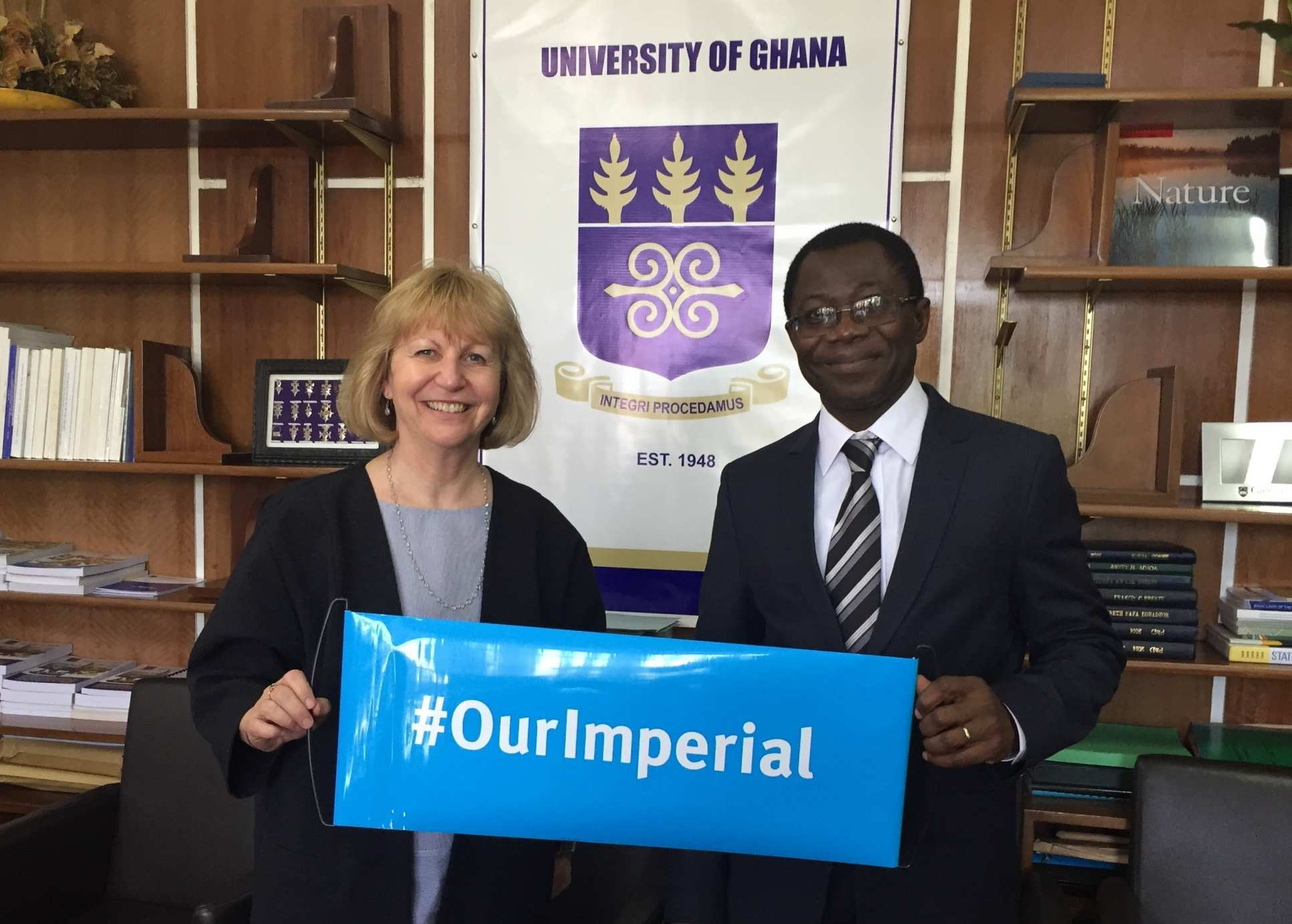 Professor Dallman met with Professor Samuel Kwame Offei, Pro-Vice Chancellor of academic partnerships at the University of Ghana and an Imperial alumnus.