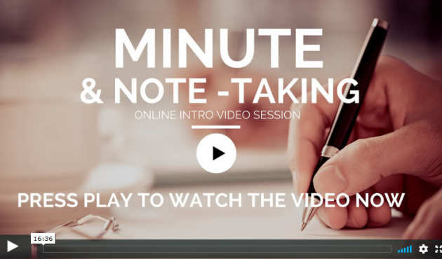 minute taking video