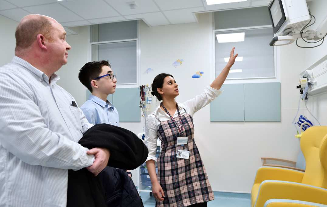 Patients are given a tour of the facility
